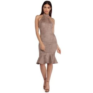 NEW taupe dress